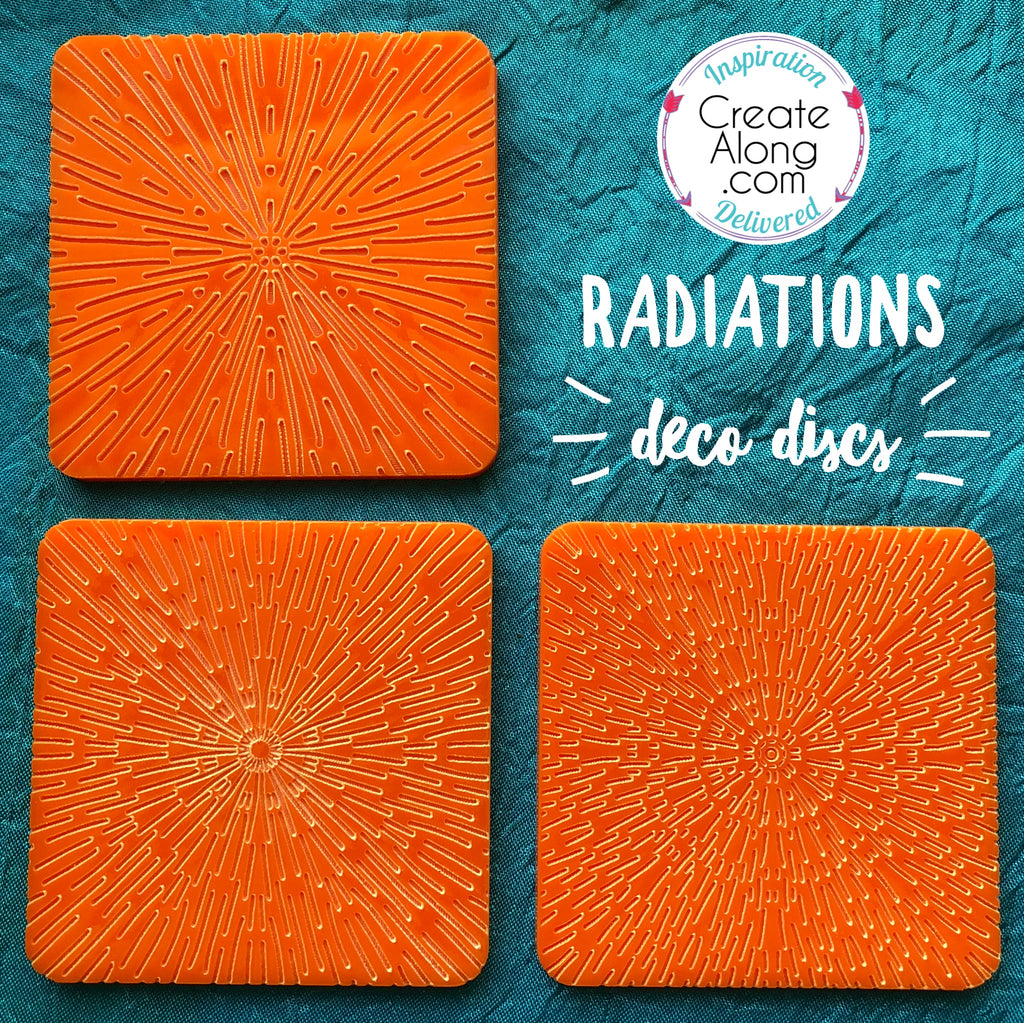 Deco Disc Radiations stamp and texture radial designs - Polymer Clay TV tutorial and supplies