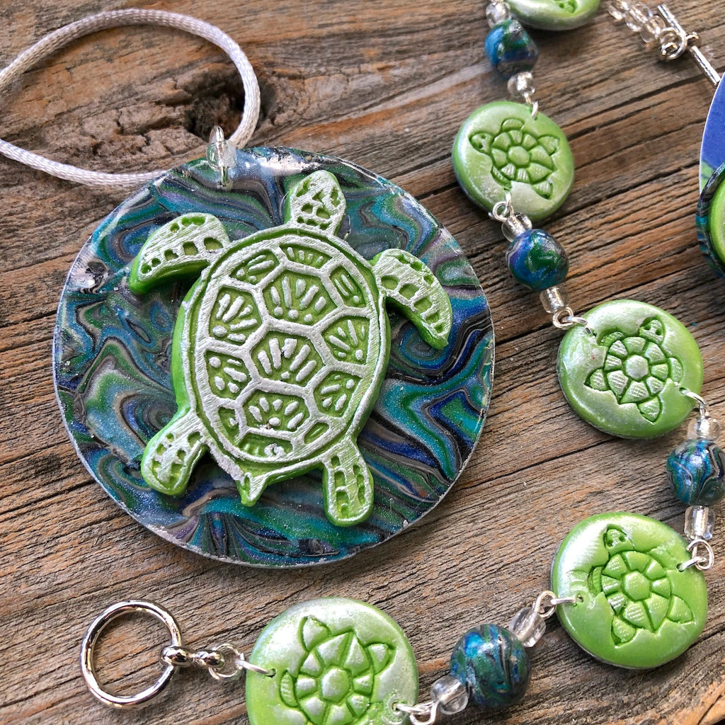 Deco Disc Turtle Mania Stamp texture polymer clay