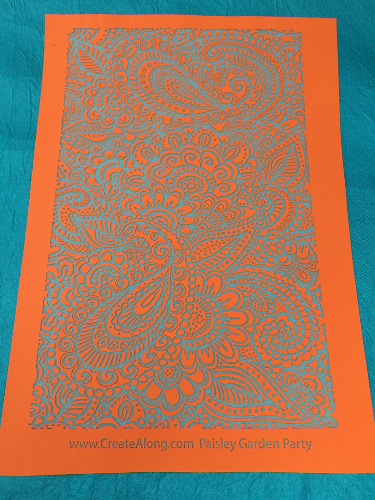 Silkscreen Stencil Paisley Garden Party For Polymer Clay And Mixed Media Overall Design - Polymer Clay TV tutorial and supplies