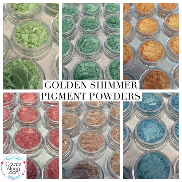 Pigments Mica Powders Golden Shimmer for Polymer Clay and Mixed Media Shimmer - Polymer Clay TV tutorial and supplies