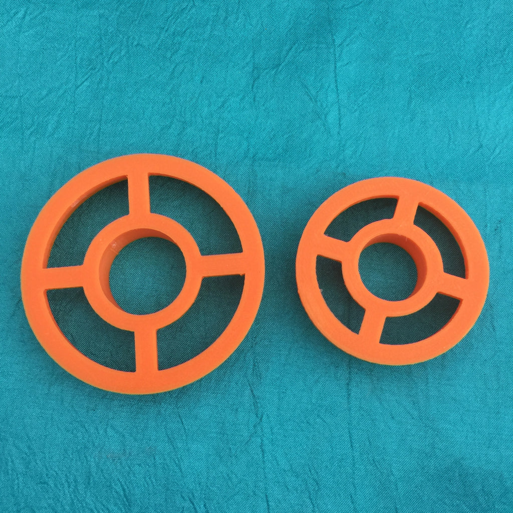 "2"" Circle polymer clay cutter center cut out set of 2 donut pendant Jewelry Sized - Polymer Clay TV tutorial and supplies"