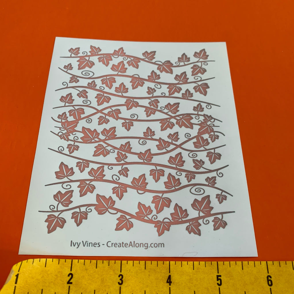 Silk Screen Ivy Vines leaves Stencil For Polymer Clay fairy