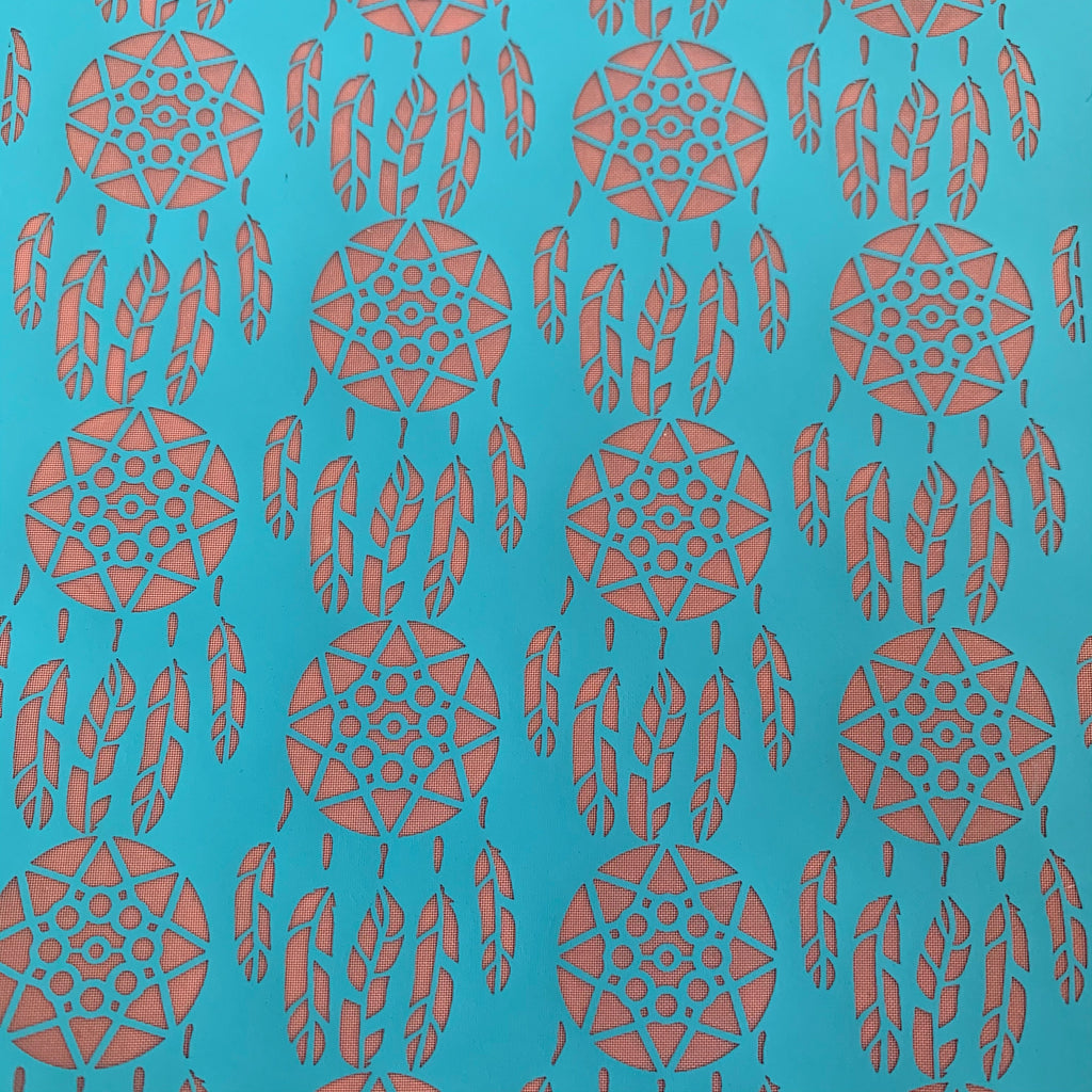 Silk Screen Dreamcatchers Stencil For Polymer Clay