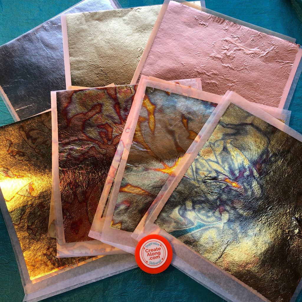 Simple Sheets easy to use 7 different colors Metallic Leaf Foils for Polymer Clay & Mixed Media