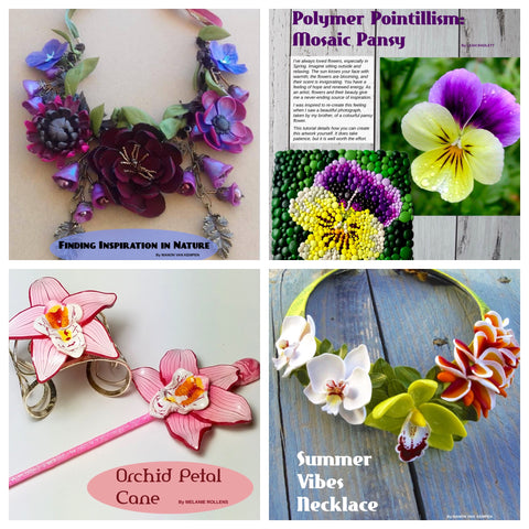 Image of July 2019 Passion for Polymer Digital Download PDF magazine - Polymer Clay TV tutorial and supplies