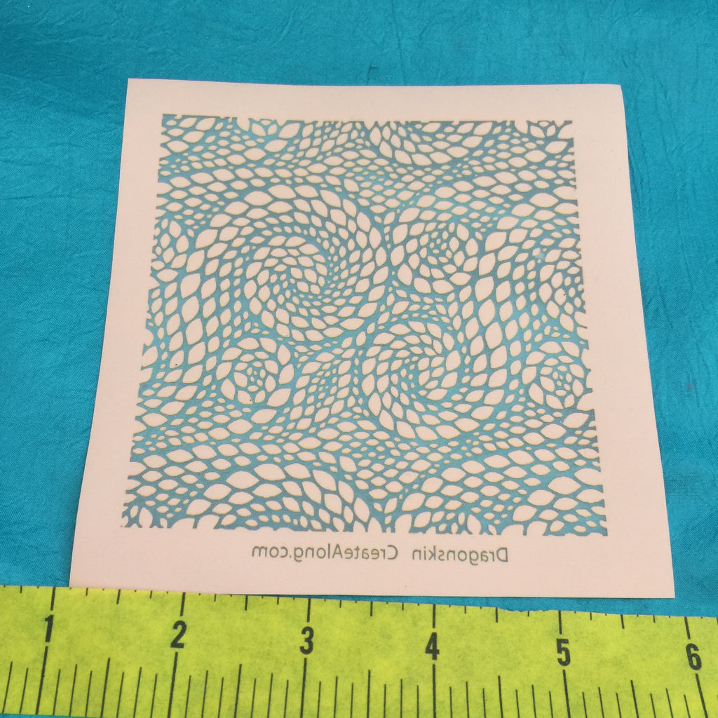 Silkscreen Stencil Dragon Skin for Polymer Clay and Mixed Media by Create Along - Polymer Clay TV tutorial and supplies