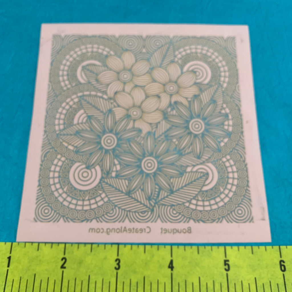 Silkscreen Bouquet Stencil for Polymer Clay, Art Jewelry and Mixed Media - Polymer Clay TV tutorial and supplies