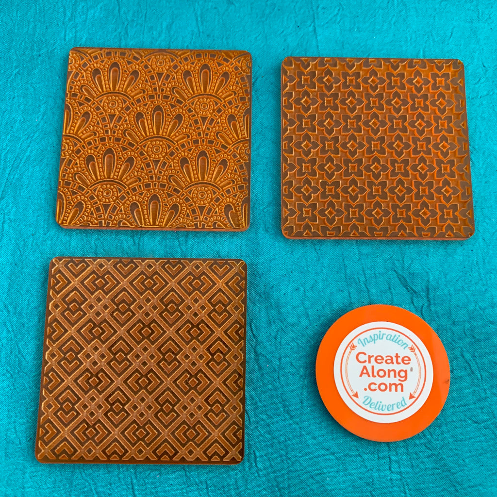 Deco Disc Miami Vibes Tiles Stamp and Texture Pattern Designs for polymer clay - Polymer Clay TV tutorial and supplies