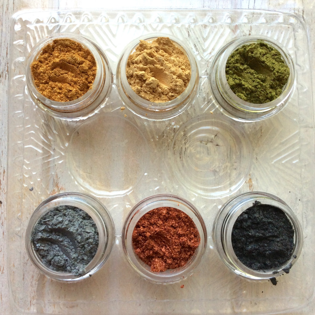 Pigments Mica Powders Essential Metallic for Polymer Clay Mixed Media Shimmer - Polymer Clay TV tutorial and supplies