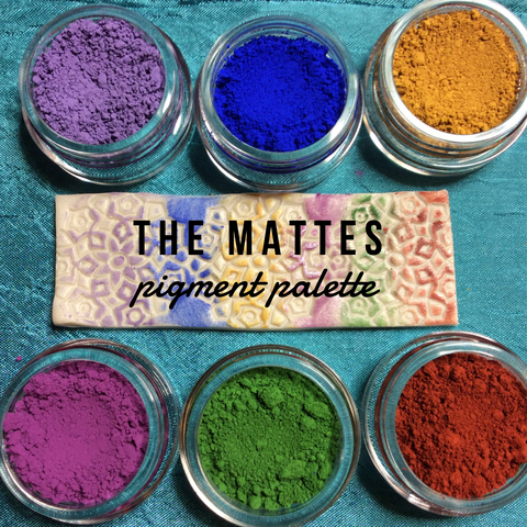 The Mattes Pigments Palette Mica Powders for Polymer Clay and Mixed Media color