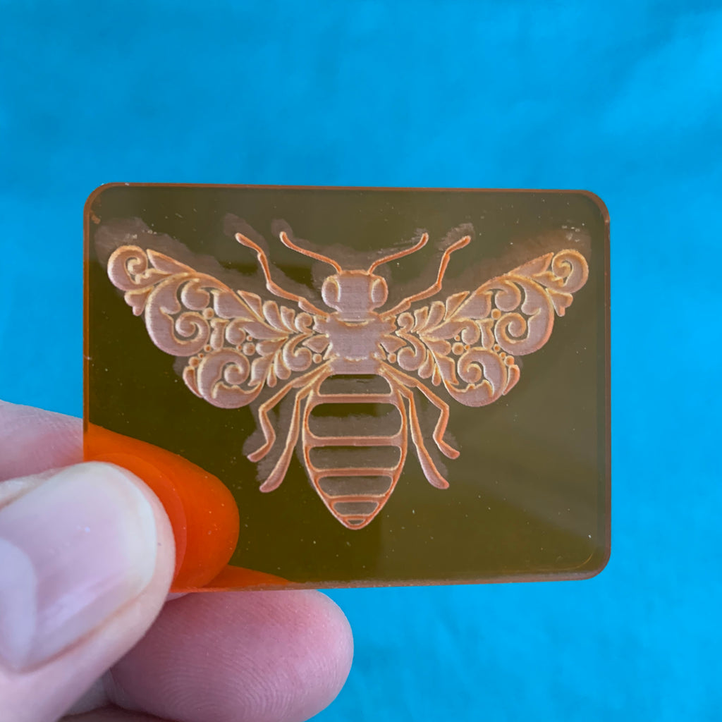 Set of 3 Cindi McGee Queen Bees Deco Disc stamps texture polymer clay art jewelry mixed-media
