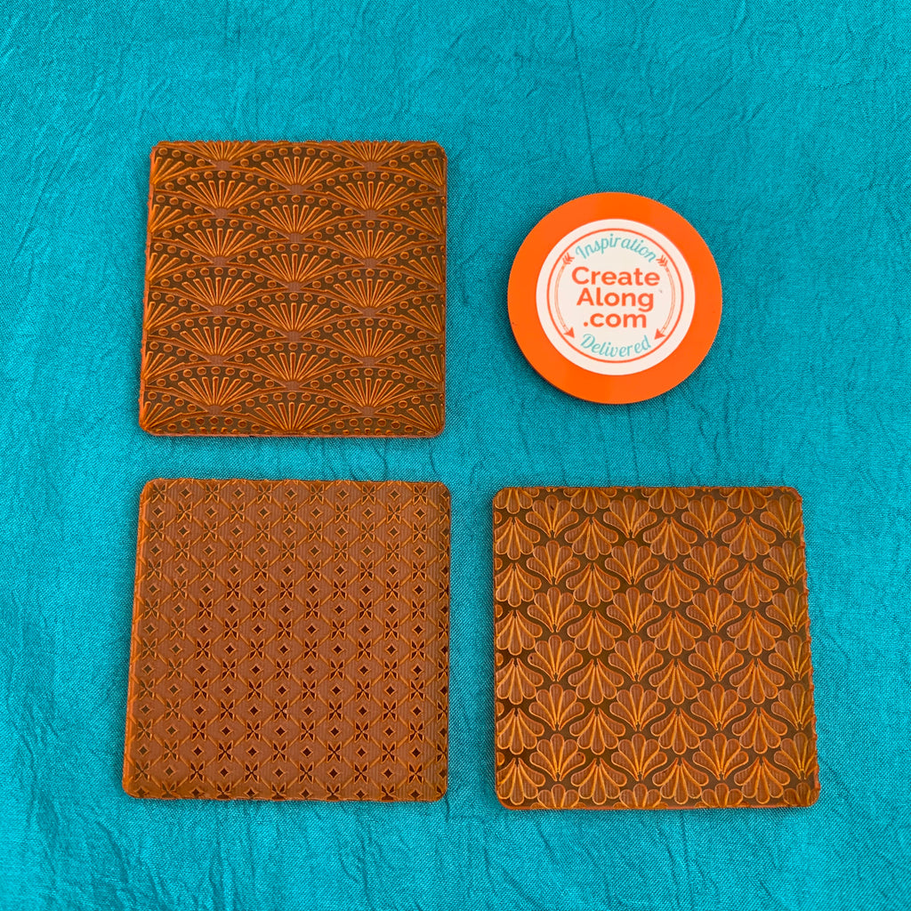 Deco Disc Art Deco Vibes Tiles Stamp and Texture Pattern Designs for polymer clay