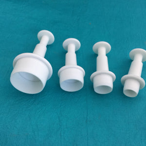Mini Round Plunger Cutters Set Of 4 Graduated Sizes For Polymer Clay