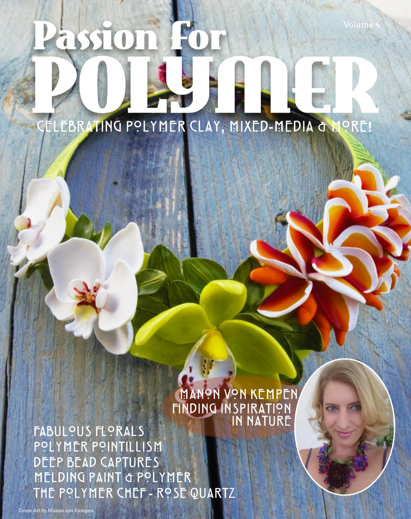 July 2019 Passion for Polymer Digital Download PDF magazine - Polymer Clay TV tutorial and supplies