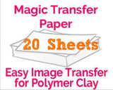 Magic Transfer Paper 20 Sheets - Polymer Clay TV tutorial and supplies