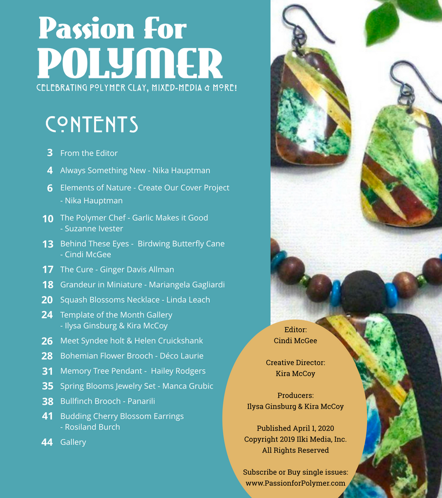 DIGITAL April 2020 Passion for Polymer clay magazine- PDF download