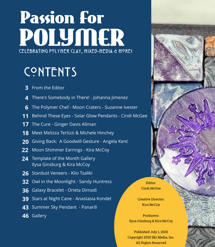 DIGITAL July 2020 Passion for Polymer clay magazine- PDF download