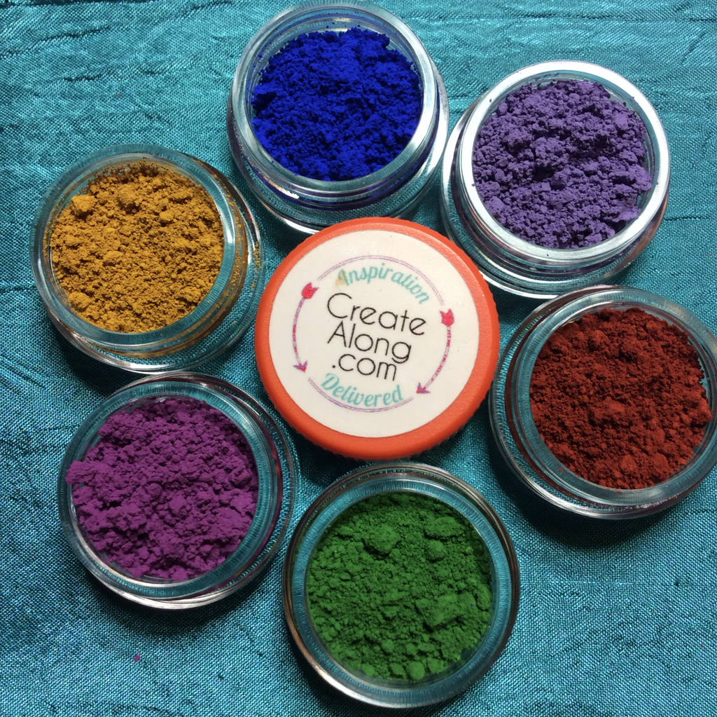 The Mattes Pigments Mineral Powders for Polymer Clay Art Jewelry and Mixed Media color - Polymer Clay TV tutorial and supplies