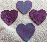 Love & Lace Silkscreen and Cutter Set a perfect pair together great for polymer clay