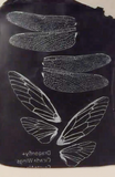 Silkscreen Dragonfly & Cicada Authentic Wings Stencil  crafting, polymer clay + mixed media