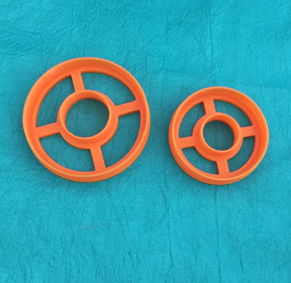 Circles with center cut out Jewelry Sized set of 2 graduated Cutters for Polymer Clay and Mixed Media