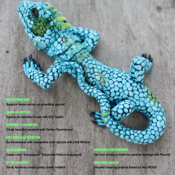 PCU August 2018 Polymer Clay Universe magazine download PDF tutorials