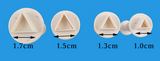 Mini Triangle Plunger Cutters Set of 4 graduated sizes for polymer clay - Polymer Clay TV tutorial and supplies