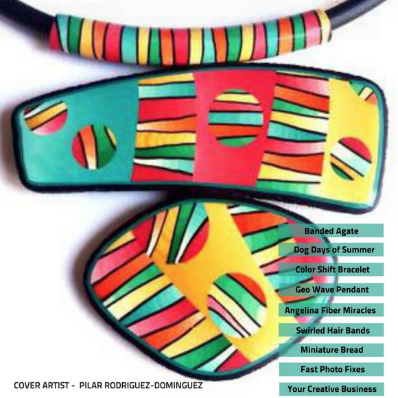 PCU digital magazine with polymer clay tutorials and articles- September issue Volume 19
