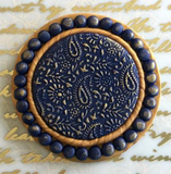 Deco Disc Paisley stamp and texture designs in polymer clay