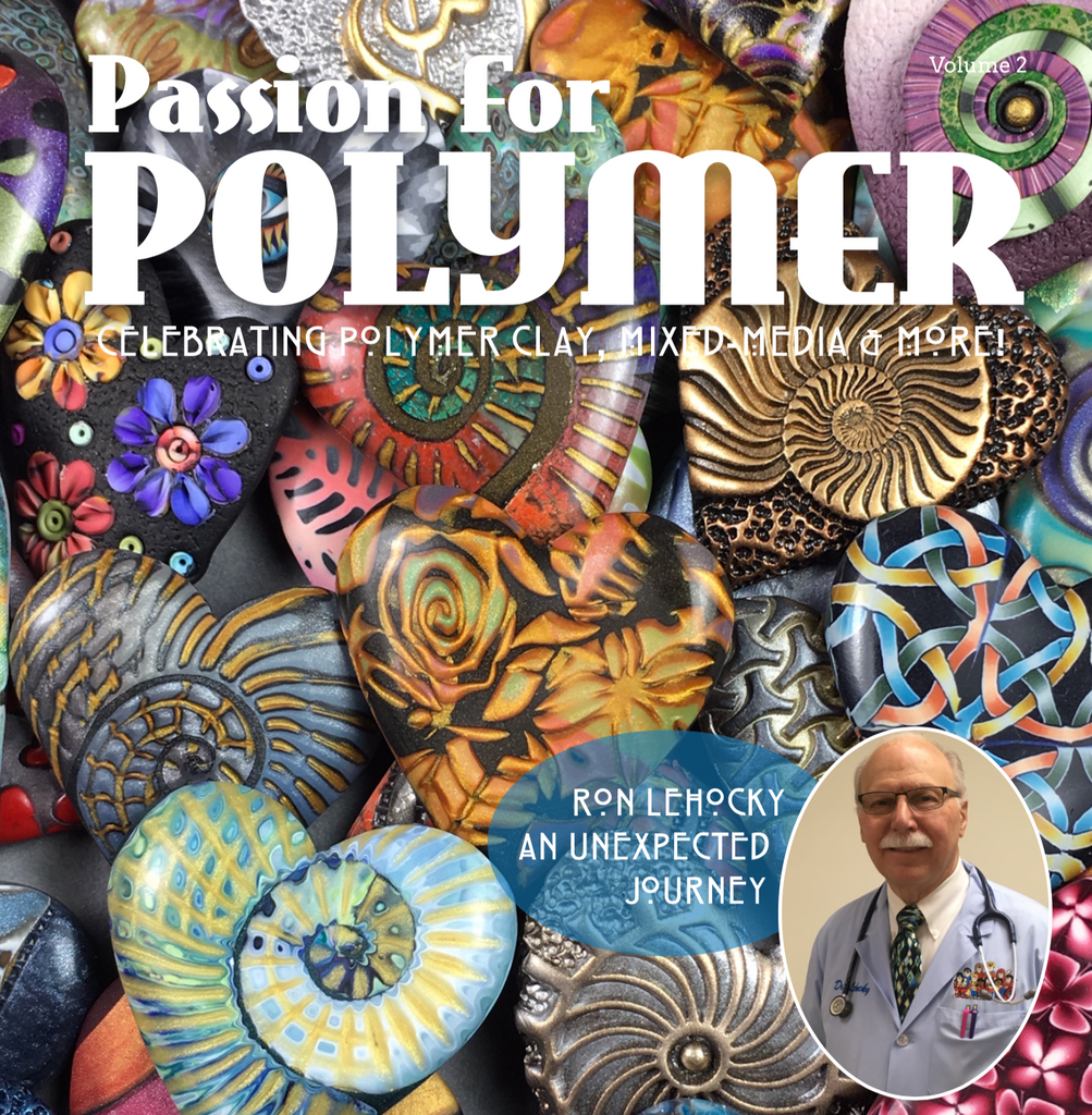 March Volume 2 DIGITAL Passion for Polymer magazine downloadable PDF - Polymer Clay TV tutorial and supplies