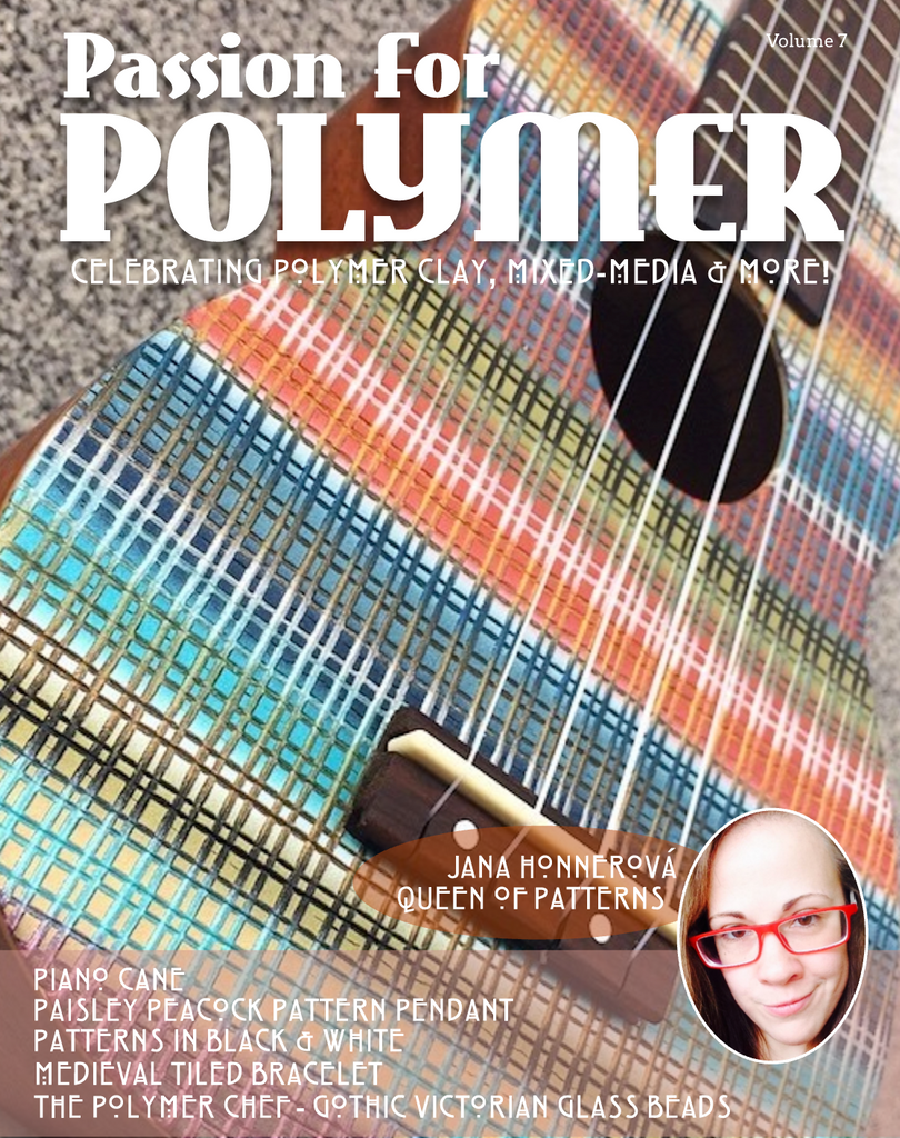 DIGITAL October 2019 Passion for Polymer clay magazine mixed media pdf download - Polymer Clay TV tutorial and supplies