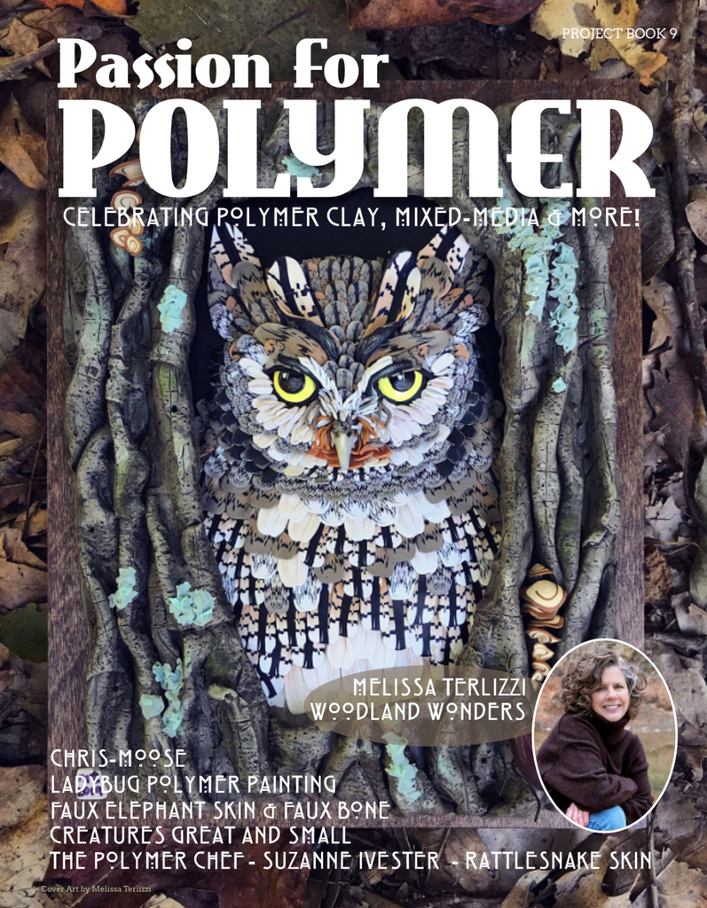 DIGITAL December 2019 download PDF Passion for Polymer clay project book magazine mixed media - Polymer Clay TV tutorial and supplies