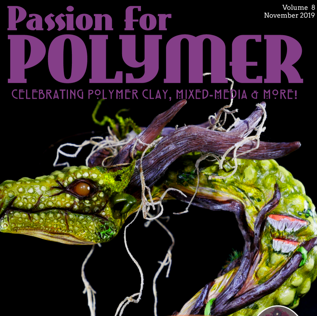DIGITAL November 2019 download PDF Passion for Polymer clay project book magazine mixed media - Polymer Clay TV tutorial and supplies