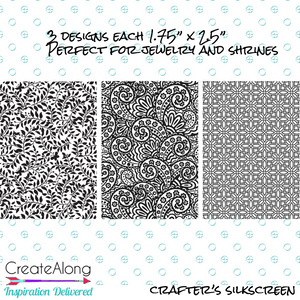 Silkscreen Stencil Shrines 1 3 patterns for crafting for polymer clay + mixed media