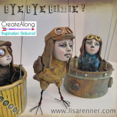 Bird Peeps Bye Bye Birdie online video class with Lisa Renner - Polymer Clay TV tutorial and supplies