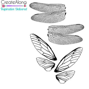 Silkscreen Dragonfly & Cicada Authentic Wings Stencil  crafting, polymer clay + mixed media - Polymer Clay TV tutorial and supplies