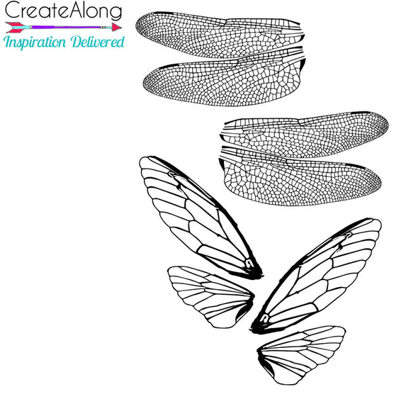Silkscreen Dragonfly & Cicada Authentic Wings Stencil  crafting, polymer clay, art jewelry, and mixed media - Polymer Clay TV tutorial and supplies