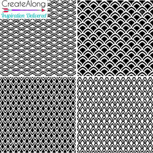 Silkscreen Stencil Dragon Scales for Polymer Clay and Mixed Media by Create Along
