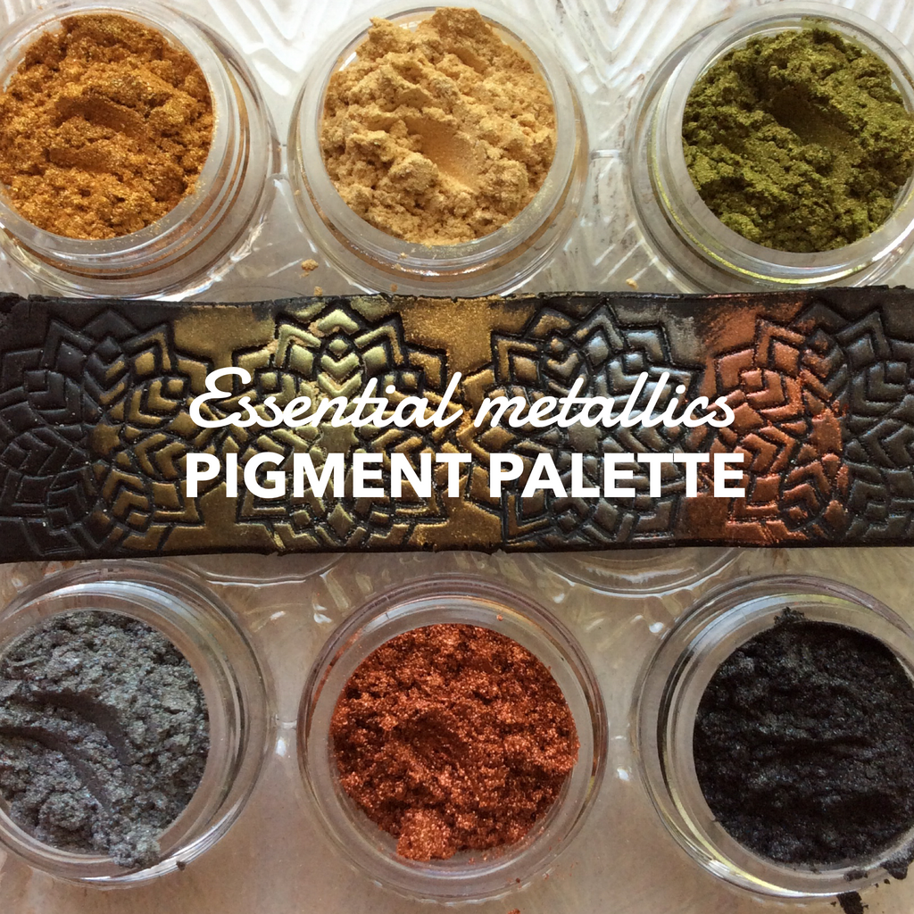Pigments Mica Powders Essential Metallic for Polymer Clay, Art Jewelry and Mixed Media Shimmer - Polymer Clay TV tutorial and supplies