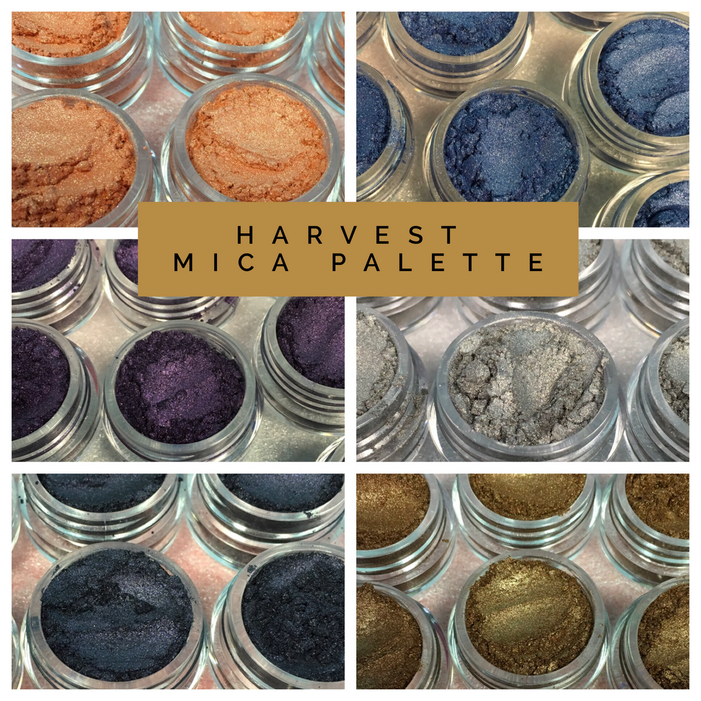 Pigments Palette Mica Powders Harvest for Polymer Clay, Art Jewelry and Mixed Media Shimmer - Polymer Clay TV tutorial and supplies
