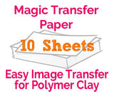 Magic Transfer Paper 10 Sheets - Polymer Clay TV tutorial and supplies