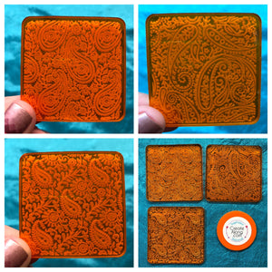 Deco Disc Paisley set of 3 stamps and texture designs in polymer clay, for art jewelry, mixed-media, and more - Polymer Clay TV tutorial and supplies