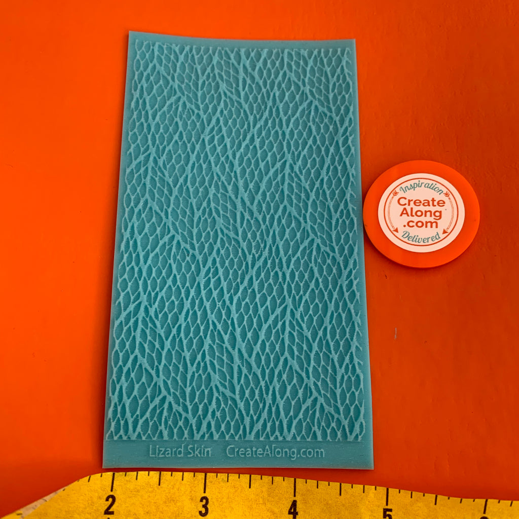 Texture Sheet Lizard Skin Scales for polymer clay and mixed media stamping