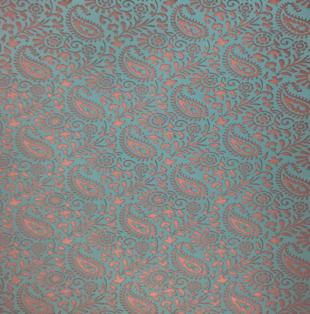 Silkscreen Paisley Field Stencil for Polymer Clay, Art Jewelry and Mixed Media