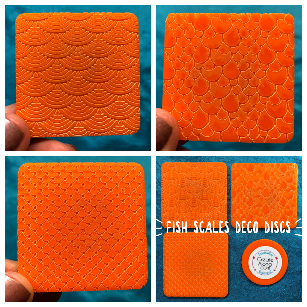 Deco Disc Fish Scales Stamp and Texture Pattern Designs - Polymer Clay TV tutorial and supplies