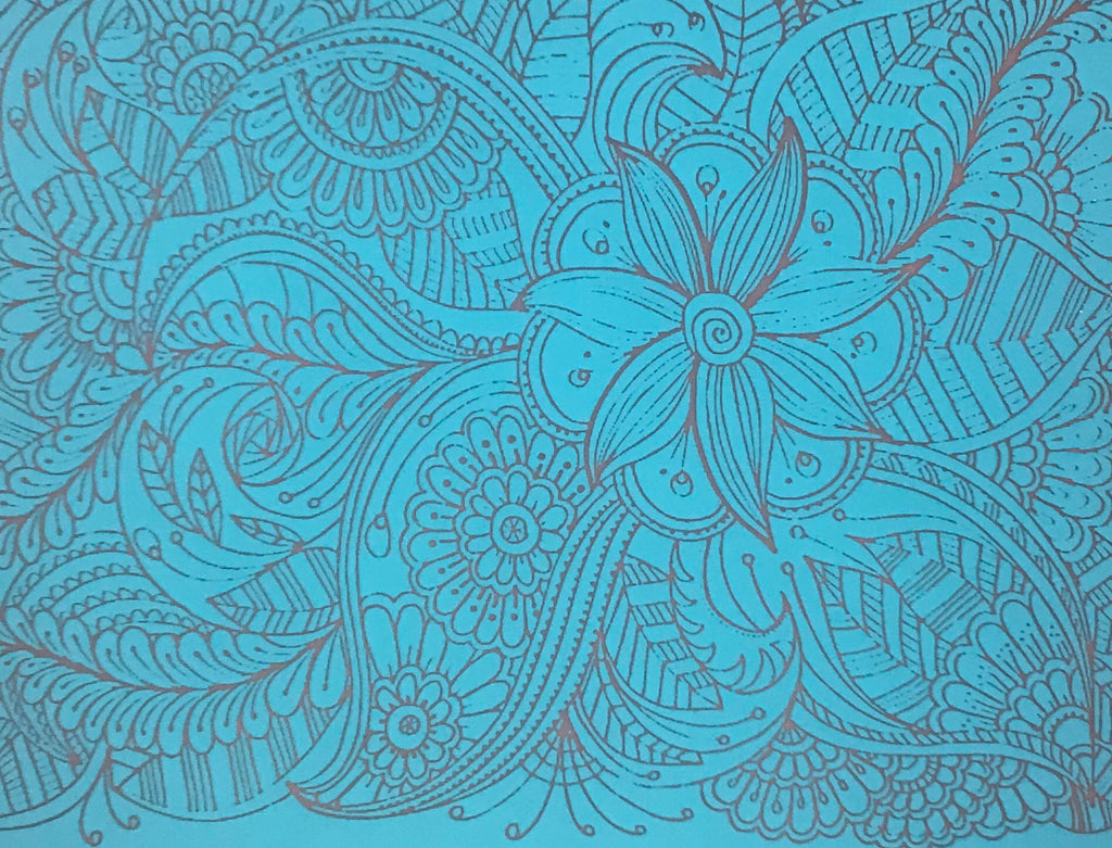 Silk Screen Festive Floral Stencil For Polymer Clay and Mixed media