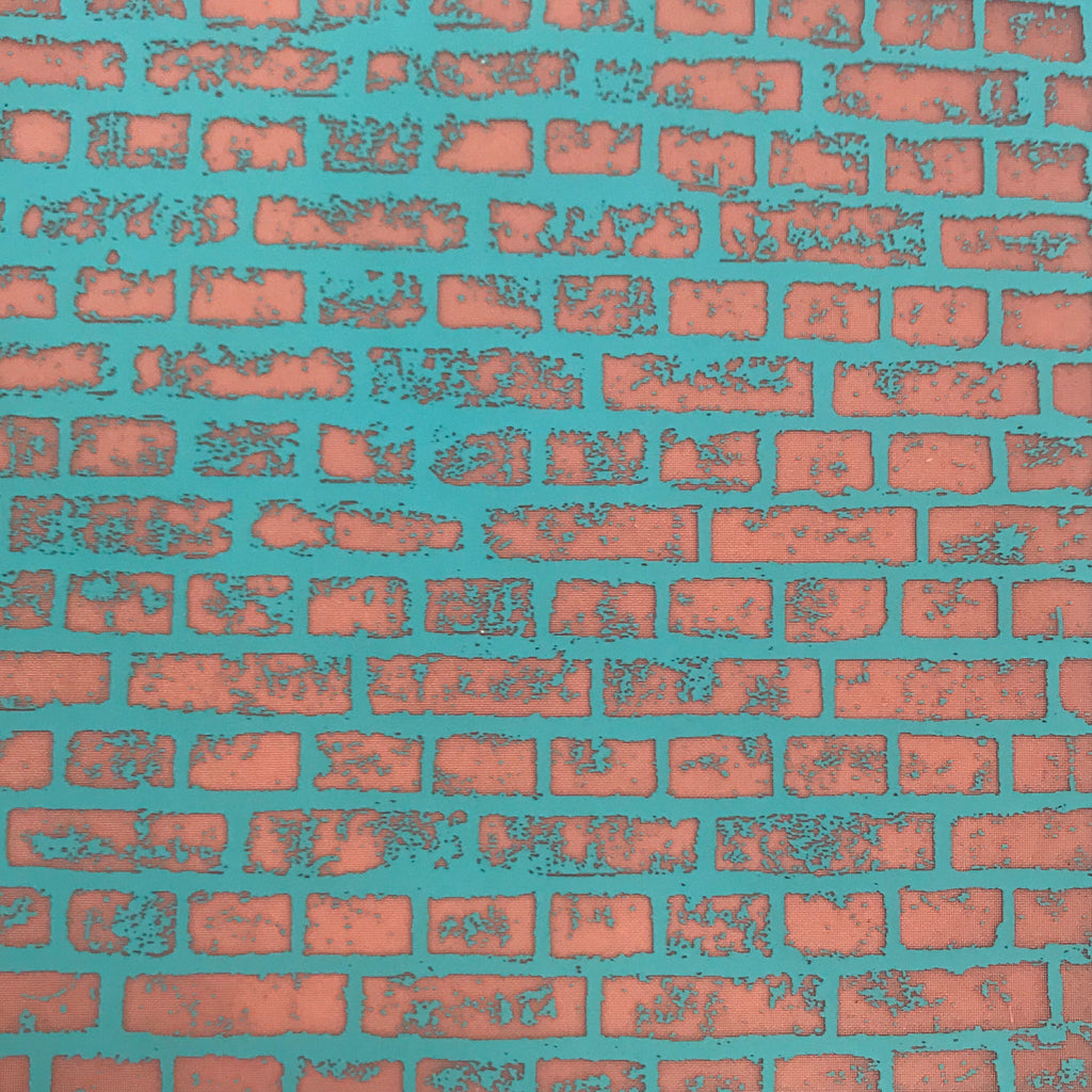Silkscreen Brick Wall Stencil for Polymer Clay, Art Jewelry and Mixed Media