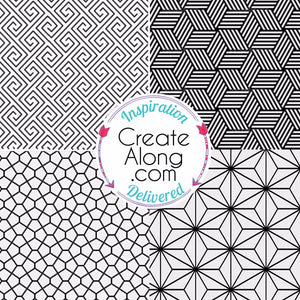 Silkscreen Stencil Linear Patterns Multi Image for Polymer Clay and Mixed Media - Polymer Clay TV tutorial and supplies