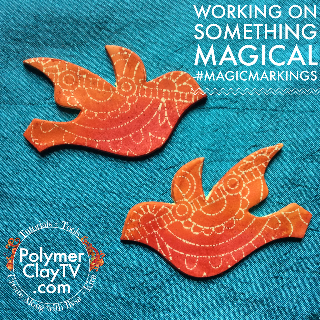Magic Markings PDF tutorial for interesting patterned designs on polymer clay - Polymer Clay TV tutorial and supplies