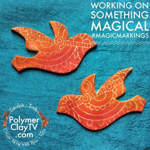 Magic Markings tutorial for interesting patterned designs on polymer clay